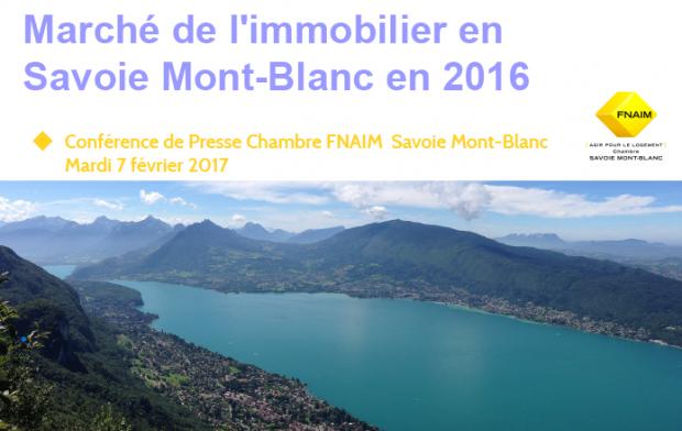 Chiffres 2016 de l'Immobilier en Savoie Mont-Blanc