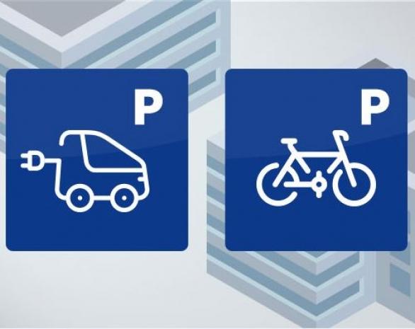 Stationnement de vélos - Bornes de recharges pour véhicules électriques